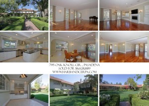 Pasadena June 2014 Luxury Real Estate Home Sales