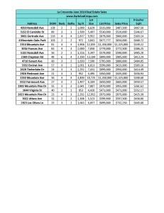 la Crescenta June 2014 Real Estate Sales